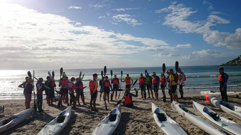 A coaching session at the Surfski School explaining the essential kayaking and paddling gear one needs.