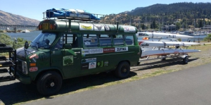 The Baker (Downwind) Bus helped shuttle paddlers in the days leading up to the race.